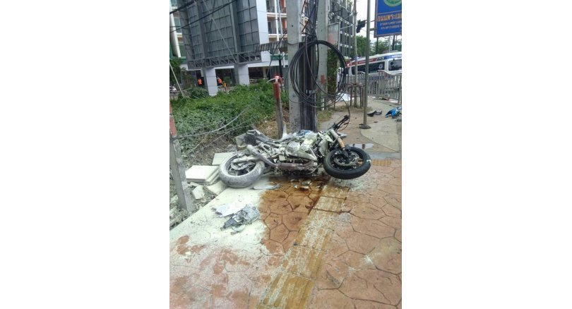 Man killed when motorcycle hits power pole