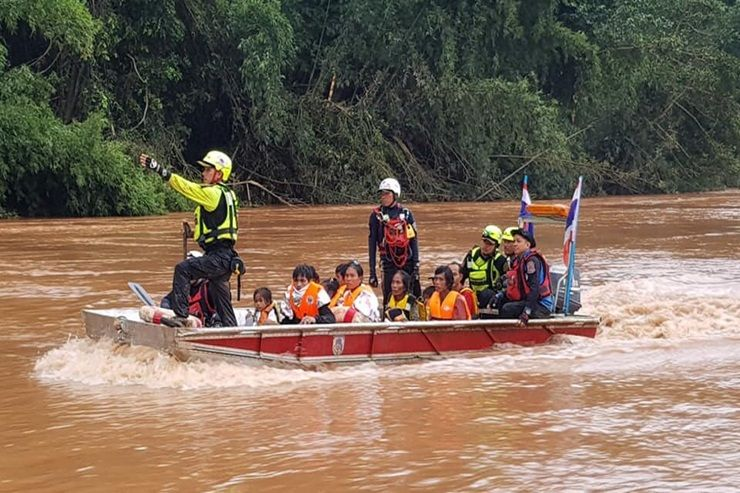 Rescuers struggle to reach victims of Laos dam collapse