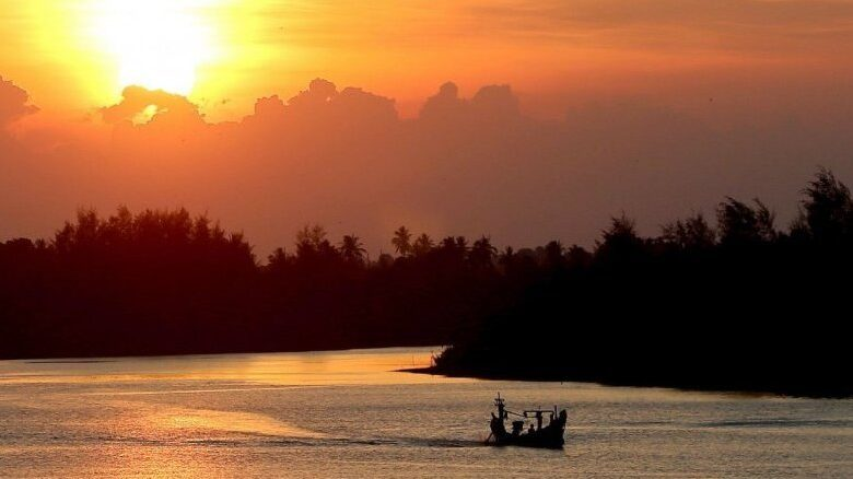 The stunning sunset view of Tak Bai River