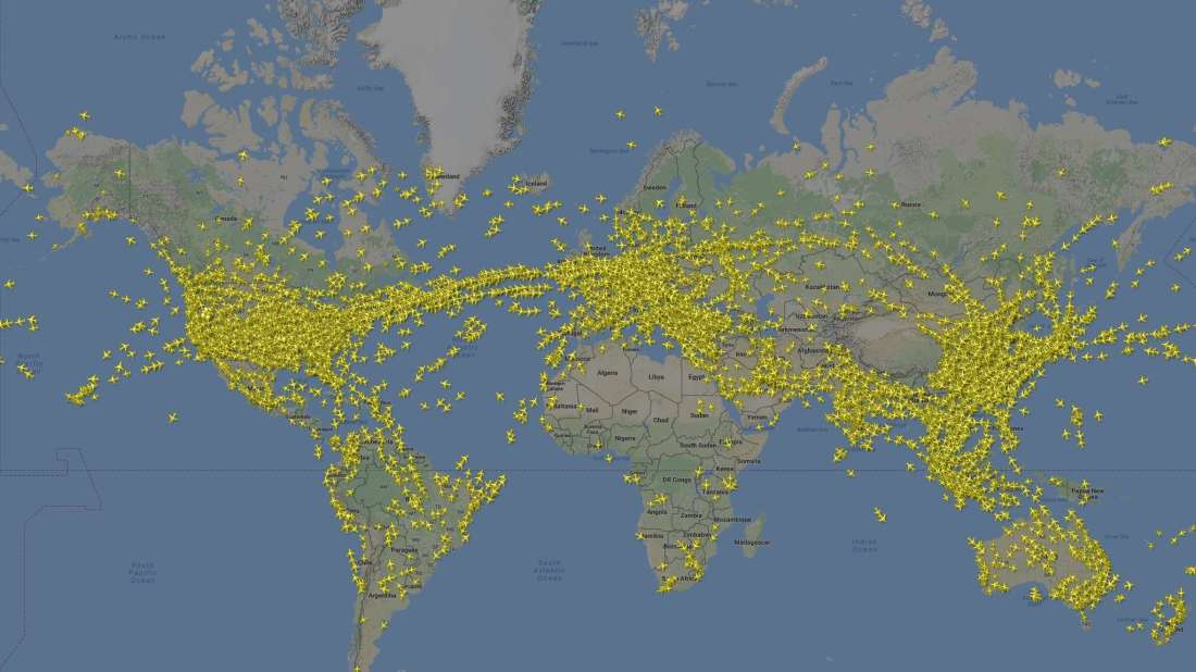 The world's busiest day for air travel, in one map