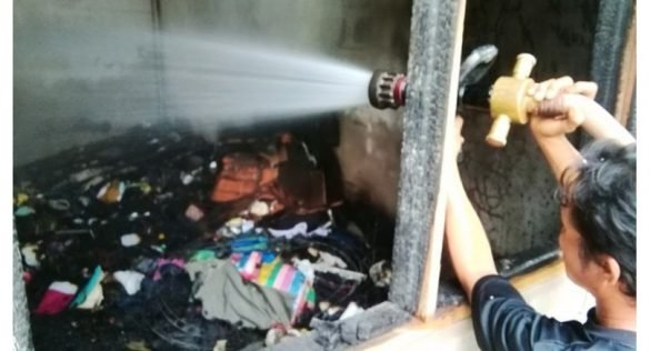 Wife rescued after addict husband sets house on fire