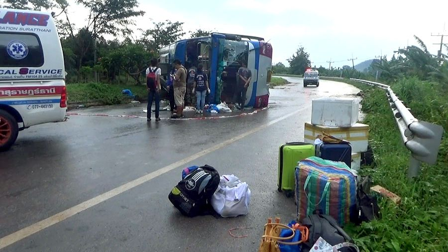 15 injured in bus accident