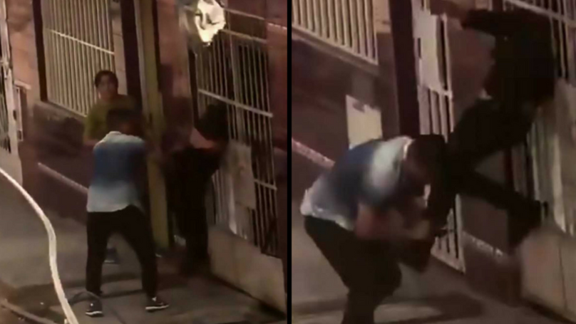 Bungling Thief Gets Stuck In Railings During Getaway