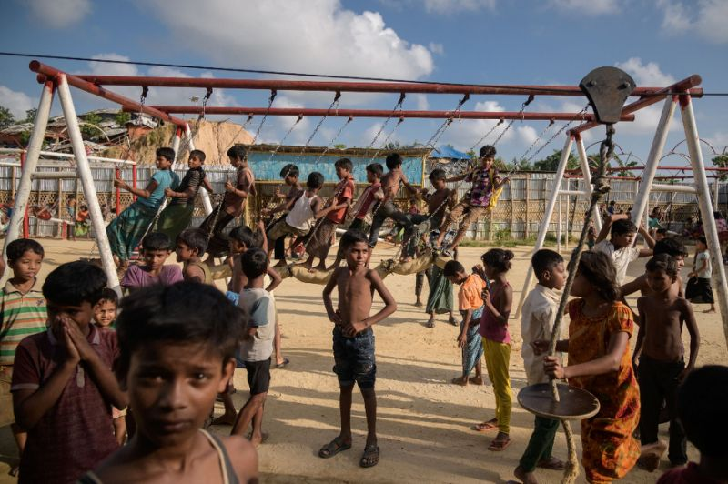 children orphaned Half 'lost' Rohingya children orphaned by violence: study