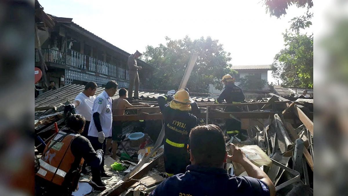 One injured in Bangkok house collapse