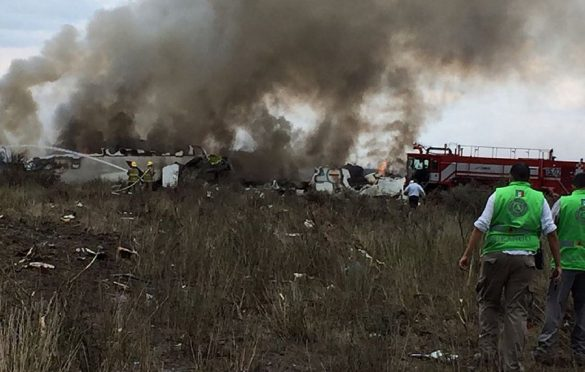 Passenger plane crash Northern Mexico
