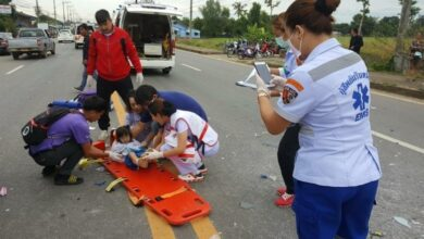 Preschoolers injured in Chiang Rai crash