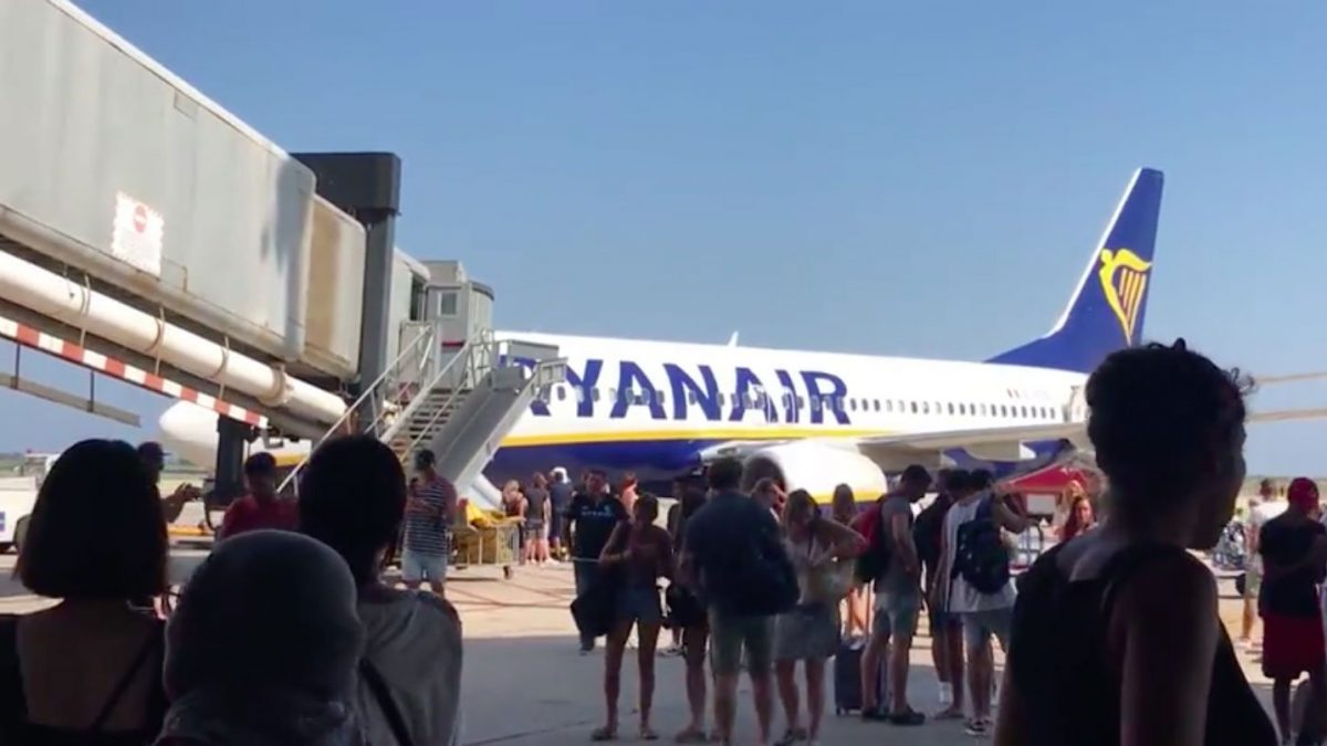 Ryanair Plane Evacuated After Mobile Phone Bursts Into Flames