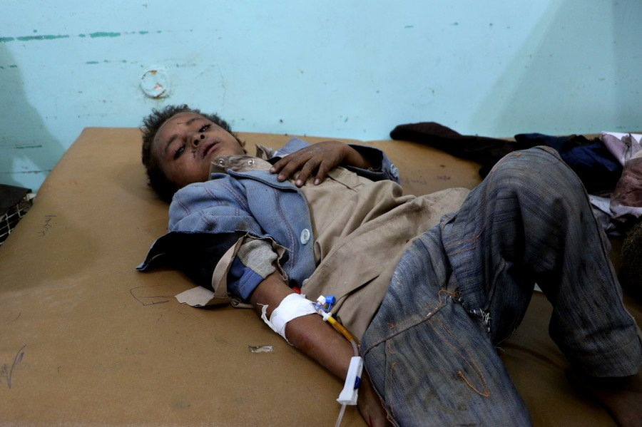 State Dept deflects questions on US-backed Saudi strike that killed dozens of children