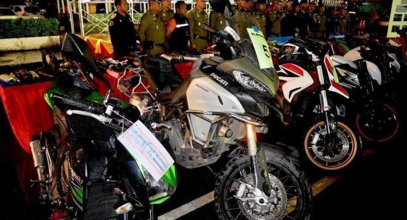 155 motorcyclists in Pathum Thani arrested for modifying bikes for racing