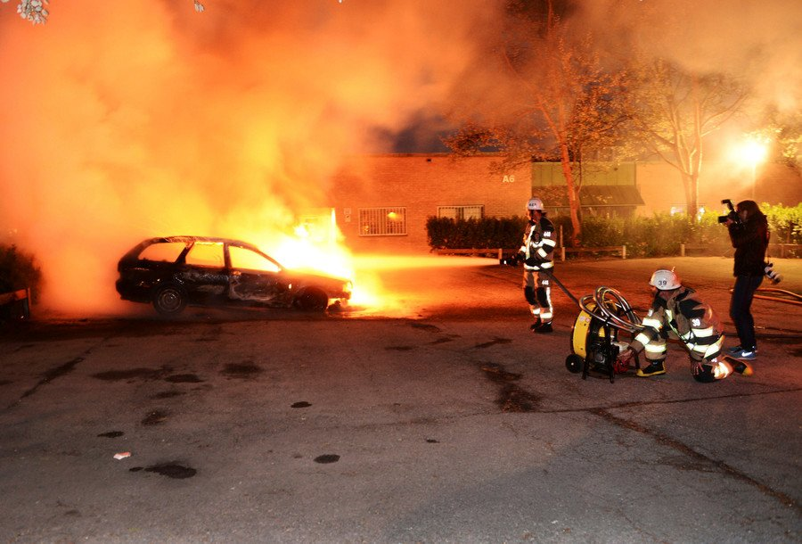 22 cars burned in Sweden as country rocked by rising crime