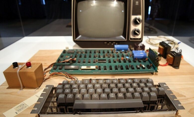 Apple-1 computer fetches $375,000 at auction. An Apple-1, a rare model of the first computer produced by the now-iconic tech firm, fetched
