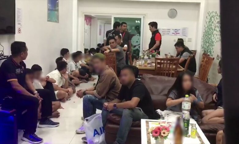 Ecstasy party raided in Bang Saen, 34 arrested