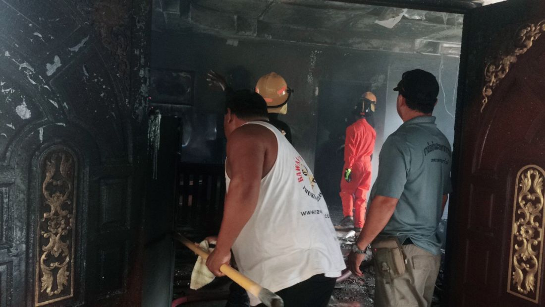 Foreigner sets fire to Rawai home then tries to jump off cliff: mayor