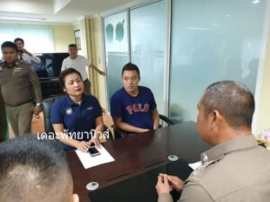 Million Baht Theft Hong Kong tourist meets with Pattaya Chief of Police over alleged million