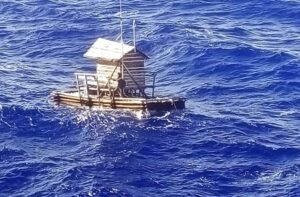 Indonesian teenager rescued after drifting 49 days at sea. An Indonesian teenager who survived 49 days adrift at sea after the wooden fish trap he was