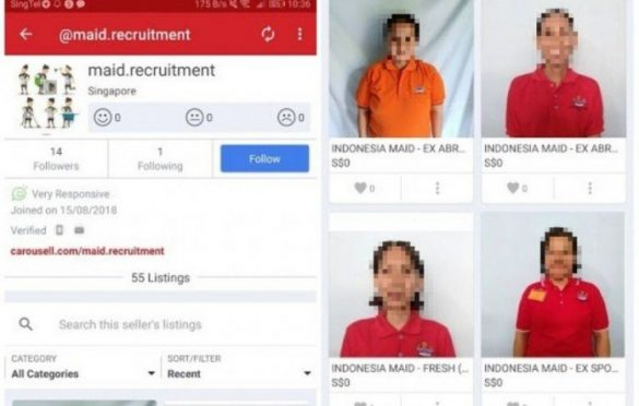 MOM investigating cases of maids being 'sold' on online marketplace Carousell. SINGAPORE – The Ministry of Manpower (MOM) is investigating cases of maids