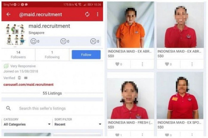 MOM investigating cases of maids being 'sold' on online marketplace Carousell