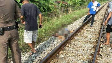 Man killed by train in Chachoengsao remains unidentified