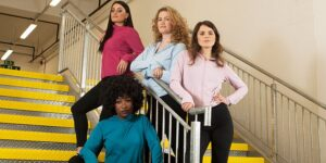 Manspreading. Channel 4 has commissioned a female-fronted prank