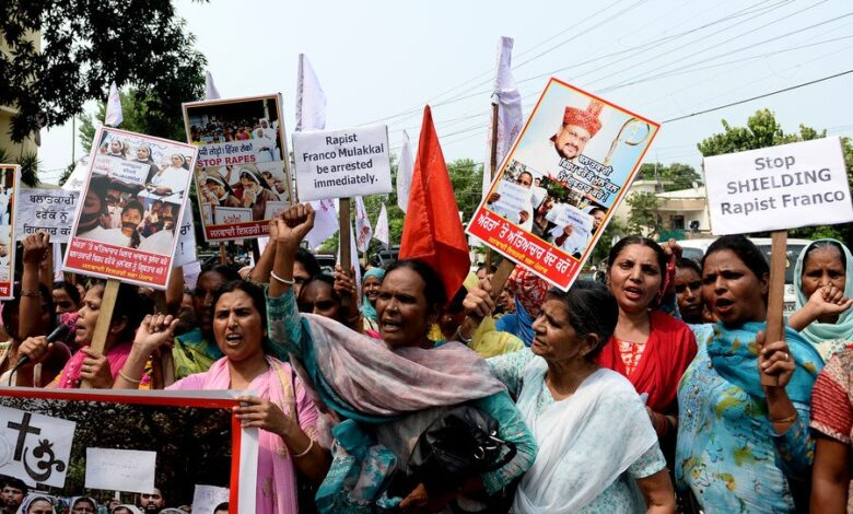 Police summon Indian bishop accused of repeatedly raping nun amid protests. A bishop accused by a nun of repeatedly raping her over two years has