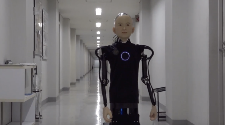 Robo-kid: Japanese professor builds creepy child-like robot. Robo-kid: A Japanese roboticist has built a child robot that is remarkably life-like and looks