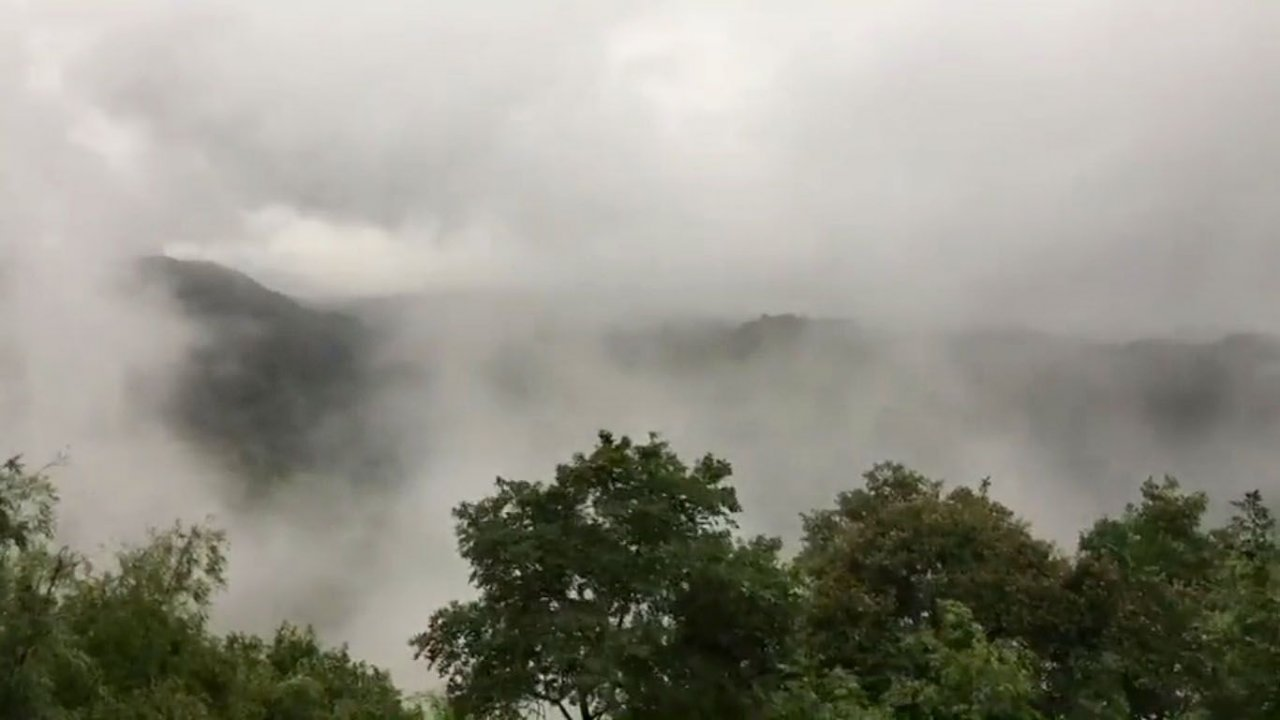 Sea of mist surrounds Loei hill. Visitors to Loei's Pho Bor Bid hilltop enjoyed unexpected a sea of mist on Thursday morning after