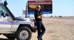 Solo Aussie outback cop mans beat the size of Britain. Birdsville, Australia - Being the only policeman in an area the size of Britain might be daunting