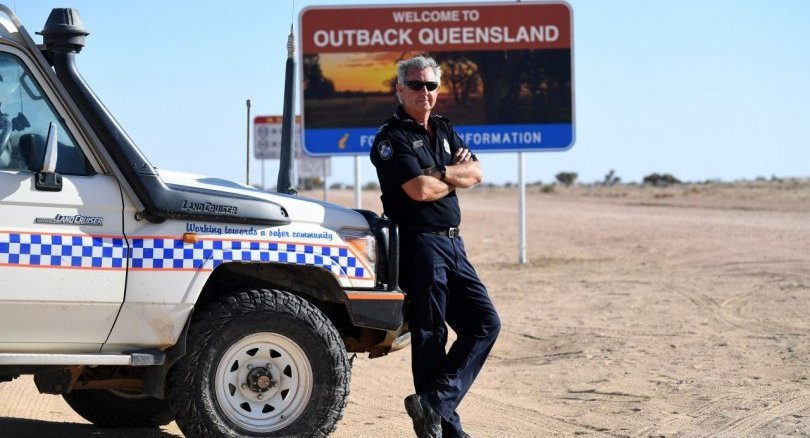 Solo Aussie outback cop mans beat the size of Britain