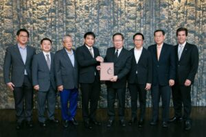 Thai firm signs 3-hotel deal in Laos. Centara, a Thai hospitality group led by Suthikiati Chirathivat, board chairman (fourth from the