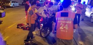 Bike Crash - Thep Prasit Rd. 1st October, 10:46 pm, Thep Prasit