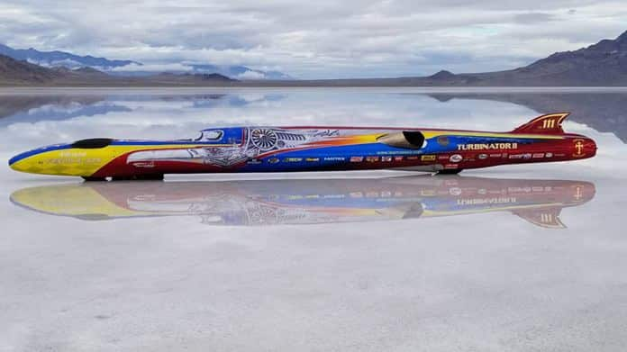 500 MPH wheel-driven record attempt. Team Vesco in the US took their Turbinator to Bonneville this month in an attempt to push their own wheel-driven land