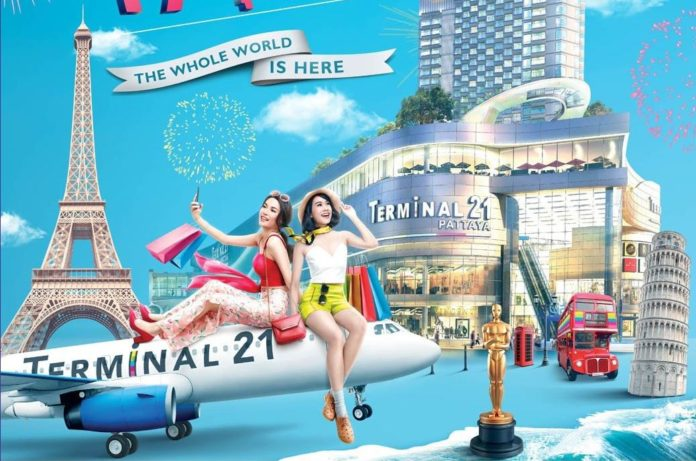 A look inside Pattaya's new TERMINAL 21. Terminal21 Pattaya is a new shopping destination with a terminal experience, the largest