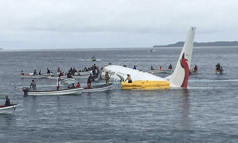 Body found inside plane days after it ditched into Pacific lagoon