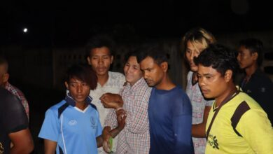 Burmese man drowns trying to rescue monkey. Three Burmese men jumped into a lagoon in Koh Kaew in Phuket on Wednesday night trying to