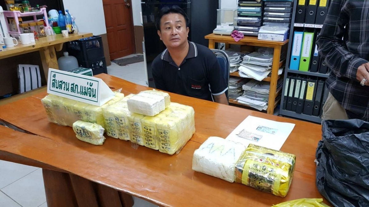 Chiang Rai man arrested with 108,000 meth pills, 2kg of 'ice'