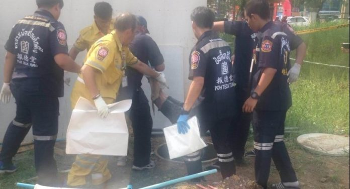 Dead customer found in septic tank as shop owner vanishes