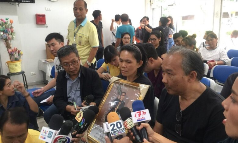 Find our son's killer or else, say parents. The parents of a 24-year-old college student, who was shot dead at his parents' food stall in Bangkok, have