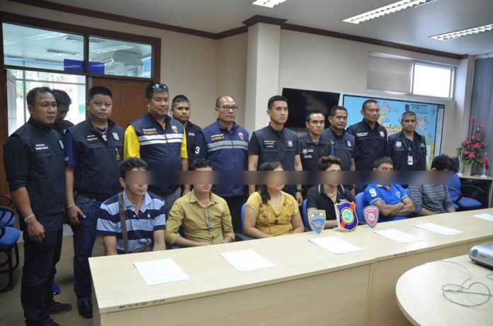Illegal foreigners and over stayers rounded up in Pattaya sweep
