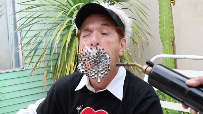 Video: Man With Huge Mouth Smokes More Than 150 Cigarettes At Once