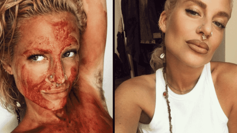 Swedish Naturist Receives Backlash After Posting Picture Covered In 'Menstrual Blood'