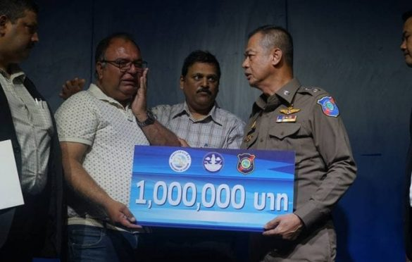 Thailand gives Bht Two Million to families of shot tourists. A press conference has been help to present checks worth two million baht to the family