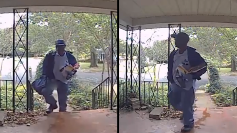 Video: Homeowner Catches Delivery Man Urinating On His Doorstep