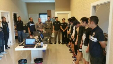 12 Chinese arrested for online loan-sharking in Huay Yai. 12 Chinese nationals were arrested for allegedly operating an online
