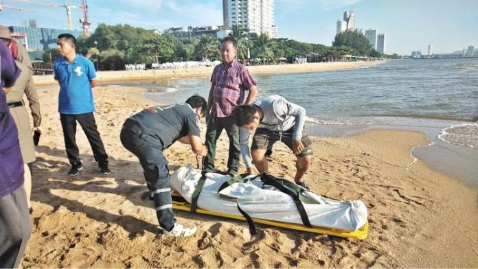 25 year old Thai man drowns on Jomtien Beach, possible suicide