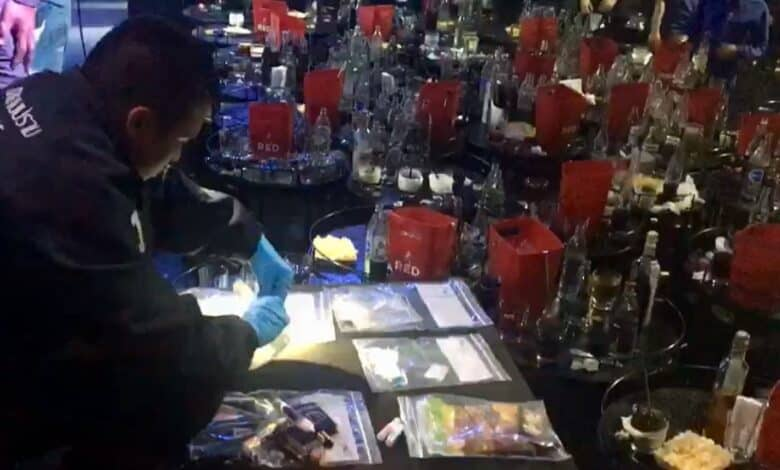 Bangkok pub raided, 100 patrons test positive for drugs. Crime Suppression Division police and officers from the Office of Narcotics Control Board