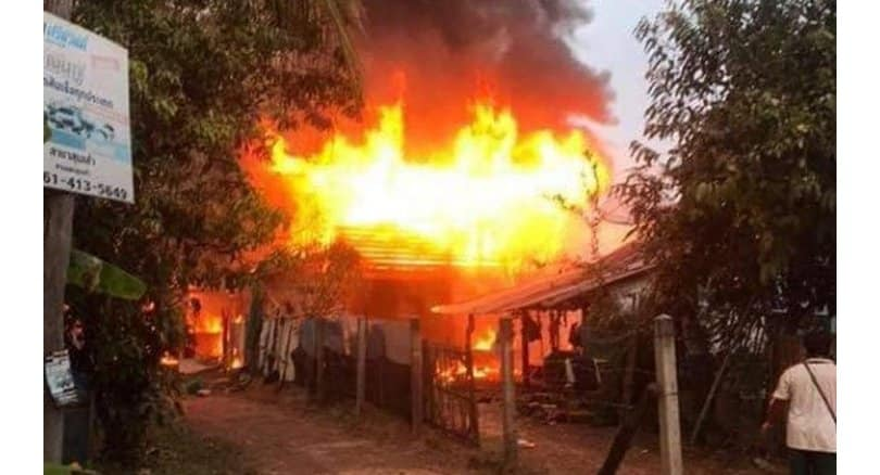 Bedridden woman, 96, perishes in Udon Thani house fire