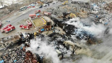 Blast kills 22 near north China chemical plant: official. An explosion and fire near a chemical factory left at least 22 people dead and 22 others injured