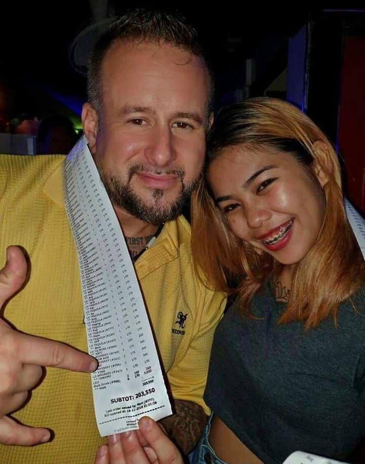 Brit's 203,550 Baht Pattaya Gogo Bar Bill. A wealthy British business stunned revellers when he ran up a staggering 203,550 Thai baht bill in a Thai strip