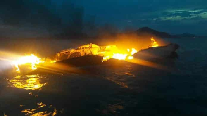 British Tourists rescued in Phuket after yacht burns. British tourists rescued in Phuket from burning tour boat. Nine British tourists had to be rescued